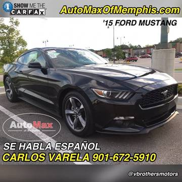 2015 Ford Mustang for sale at AutoMax of Memphis - V Brothers in Memphis TN