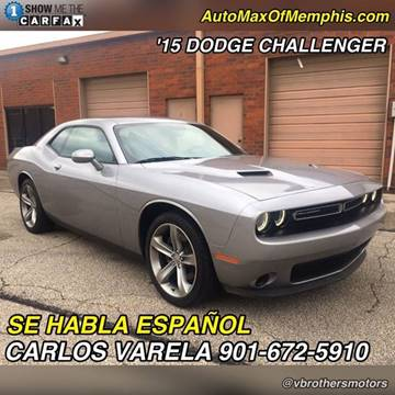 2015 Dodge Challenger for sale at AutoMax of Memphis - V Brothers in Memphis TN
