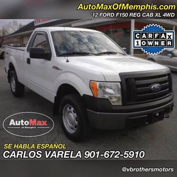 2012 Ford F-150 for sale at AutoMax of Memphis - V Brothers in Memphis TN
