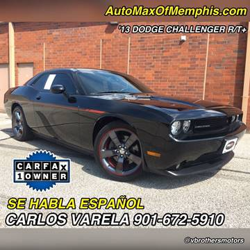 2013 Dodge Challenger for sale at AutoMax of Memphis - V Brothers in Memphis TN