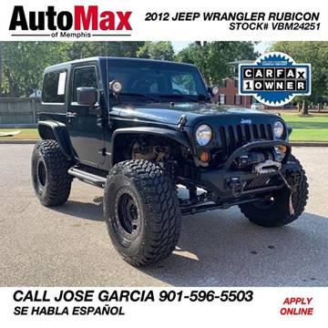 2012 Jeep Wrangler for sale in Memphis, TN