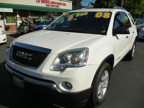 2008 GMC Acadia for sale at La Mesa Auto Sales in Huntington Park CA