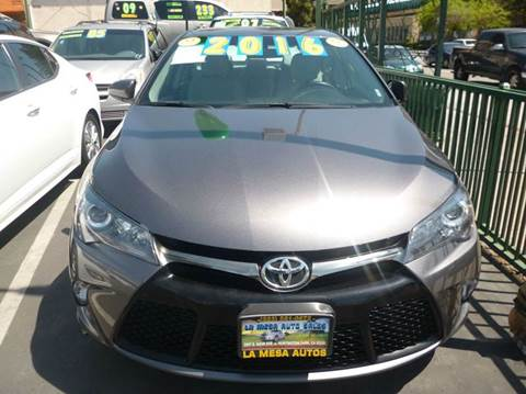 2016 Toyota Camry for sale at La Mesa Auto Sales in Huntington Park CA