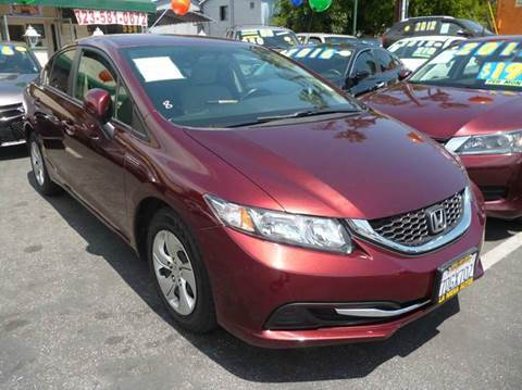 2013 Honda Civic for sale at La Mesa Auto Sales in Huntington Park CA