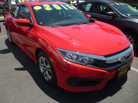 2016 Honda Civic for sale at La Mesa Auto Sales in Huntington Park CA