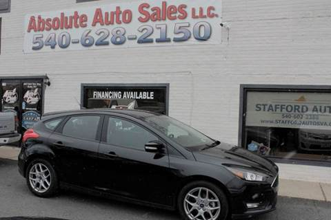 2015 Ford Focus for sale at Absolute Auto Sales in Fredericksburg VA