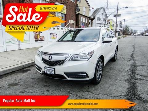 2014 Acura MDX for sale at Popular Auto Mall Inc in Newark NJ