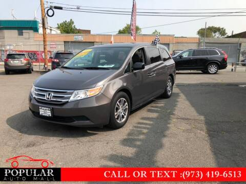 2013 Honda Odyssey for sale at Popular Auto Mall Inc in Newark NJ