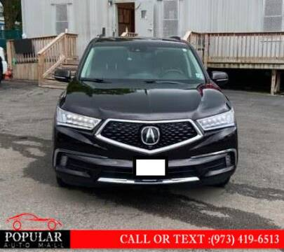 2017 Acura MDX for sale at Popular Auto Mall Inc in Newark NJ