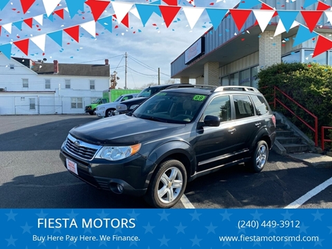 2009 Subaru Forester for sale at FIESTA MOTORS in Hagerstown MD