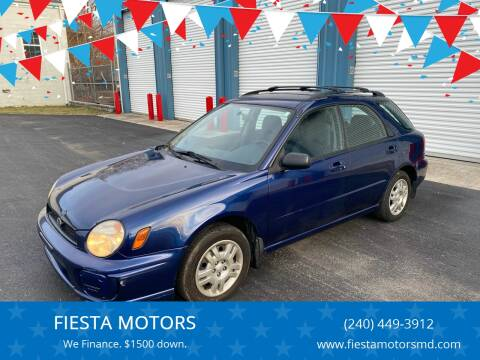 2002 Subaru Impreza for sale at FIESTA MOTORS in Hagerstown MD