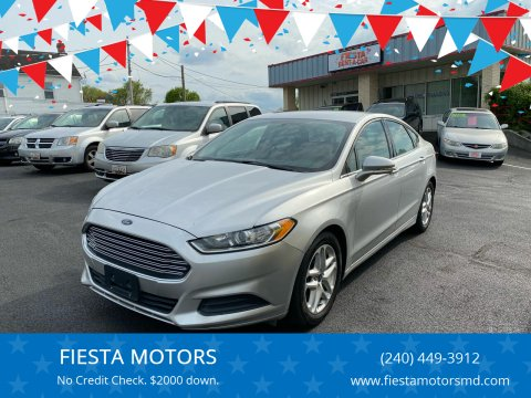 2016 Ford Fusion for sale at FIESTA MOTORS in Hagerstown MD