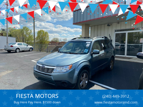 2010 Subaru Forester for sale at FIESTA MOTORS in Hagerstown MD