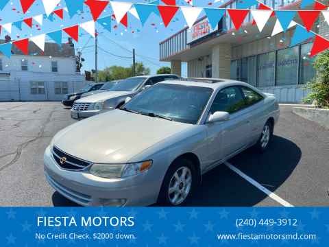 1999 Toyota Camry Solara for sale at FIESTA MOTORS in Hagerstown MD