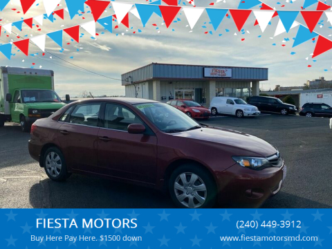 2010 Subaru Impreza for sale at FIESTA MOTORS in Hagerstown MD