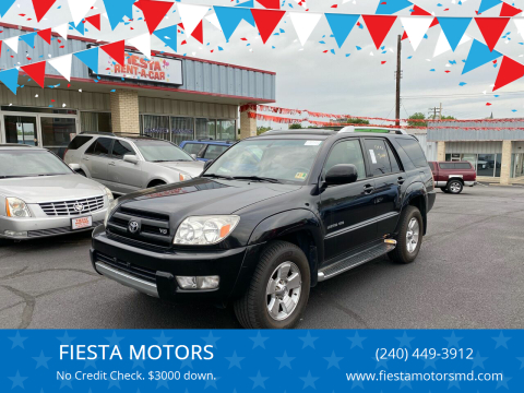 2003 Toyota 4Runner Limited for sale at FIESTA MOTORS in Hagerstown MD