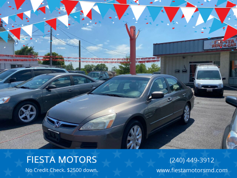 2007 Honda Accord for sale at FIESTA MOTORS in Hagerstown MD