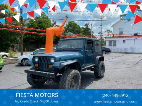 1995 Jeep Wrangler for sale at FIESTA MOTORS in Hagerstown MD