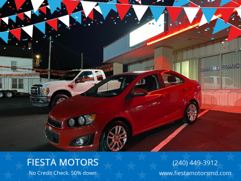 2013 Chevrolet Sonic for sale at FIESTA MOTORS in Hagerstown MD