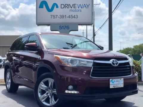 2014 Toyota Highlander for sale at Driveway Motors in Virginia Beach VA