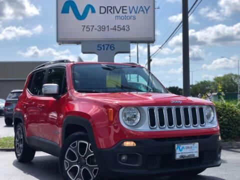 2016 Jeep Renegade for sale at Driveway Motors in Virginia Beach VA