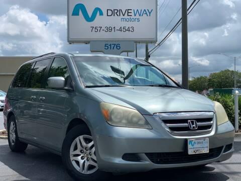 2005 Honda Odyssey for sale at Driveway Motors in Virginia Beach VA
