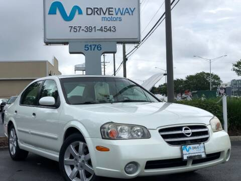 2002 Nissan Maxima for sale at Driveway Motors in Virginia Beach VA