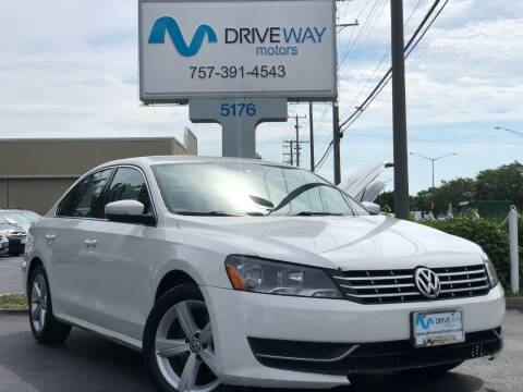 2013 Volkswagen Passat for sale at Driveway Motors in Virginia Beach VA