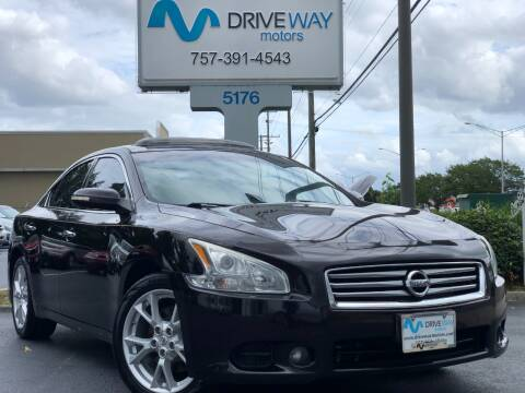 2014 Nissan Maxima for sale at Driveway Motors in Virginia Beach VA