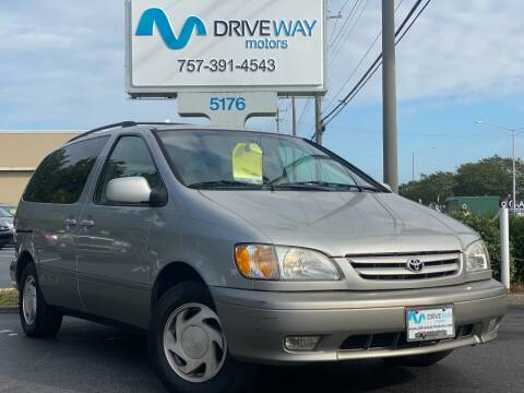 2002 Toyota Sienna for sale at Driveway Motors in Virginia Beach VA