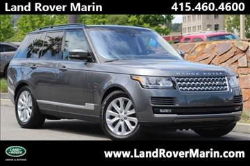 2017 Land Rover Range Rover for sale in Corte Madera, CA