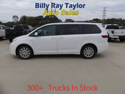 2017 Toyota Sienna for sale at Billy Ray Taylor Auto Sales in Cullman AL