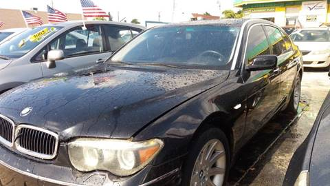2005 BMW 7 Series for sale at Trans Copacabana Auto Sales in Hollywood FL