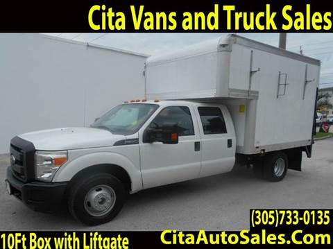 Ford F350 Crew Cab 10 Ft Box Truck Liftgate Used Cars