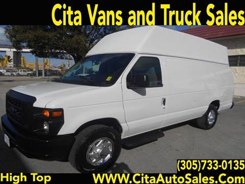 2012 FORD ECONOLINE E-350 HI ROOF EXTENDED CARGO VAN E350 for sale at Cita Auto Sales in Medley FL