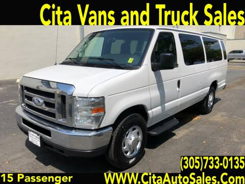 2014 FORD ECONOLINE E350 15 PASSENGER VAN E-350 for sale at Cita Auto Sales in Medley FL