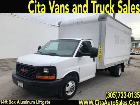 2017 CHEVROLET EXPRESS SAVANA 3500 14 FT BOX TRUCK LIFTGATE for sale at Cita Auto Sales in Medley FL
