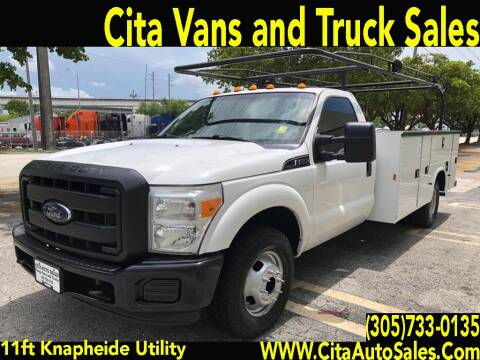 2015 FORD F350 SD 11 FT KNAPHEIDE UTILITY TRUCK DRW for sale at Cita Auto Sales in Medley FL