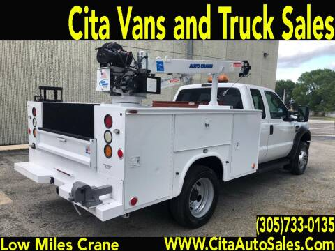 2008 FORD F-450 SD SUPERCAB DIESEL 3200 LBS CRANE UTILITY TRUCK for sale at Cita Auto Sales in Medley FL