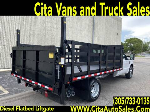 2008 FORD F350 SD 12 FT FLATBED LIFTGATE DIESEL for sale at Cita Auto Sales in Medley FL