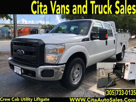 2014 FORD F350 SD SRW CREW CAB UTILITY TRUCK LIFTGATE for sale at Cita Auto Sales in Medley FL