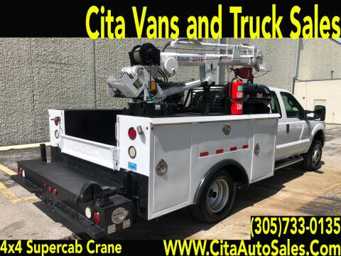 2012 FORD F350 SD SUPERCAB 4X4 CRANE UTILITY TRUCK for sale at Cita Auto Sales in Medley FL