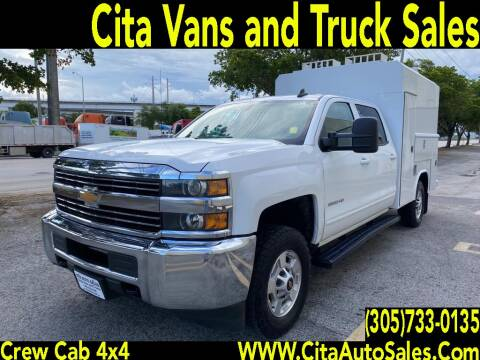 2017 CHEVROLET SILVERADO 2500 HD CREW CAB 4X4 ENCLOSED UTILITY for sale at Cita Auto Sales in Medley FL