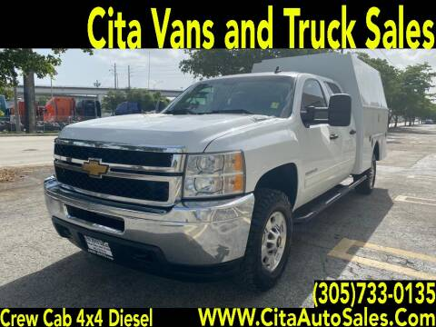 2014 CHEVROLET SILVERADO 2500 HD CREW CAB DIESEL 4X4  UTILITY for sale at Cita Auto Sales in Medley FL