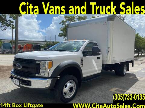 2017 FORD F450 SD DRW 14 FT BOX ALUMINUM LIFTGATE for sale at Cita Auto Sales in Medley FL