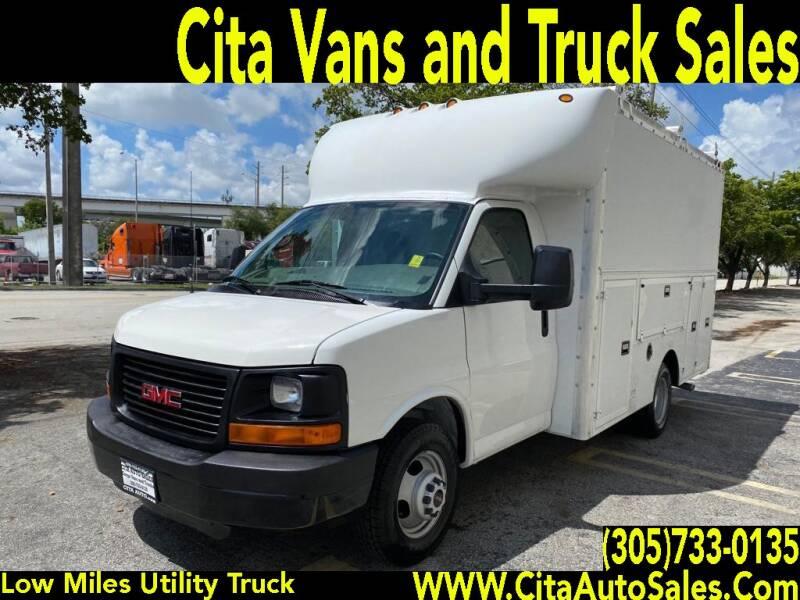 2011 CHEVROLET EXPRESS SAVANA 3500 DRW UTILITY TRUCK BOX TRUCK for sale at Cita Auto Sales in Medley FL