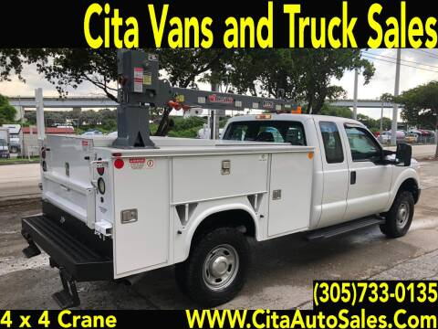 2012 FORD F250 SD SUPERCAB 4X4 UTILITY CRANE TRUCK for sale at Cita Auto Sales in Medley FL