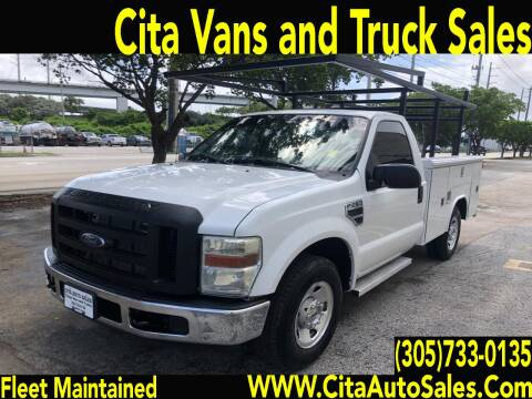 2008 FORD F250 SD UTILITY TRUCK F-250 for sale at Cita Auto Sales in Medley FL