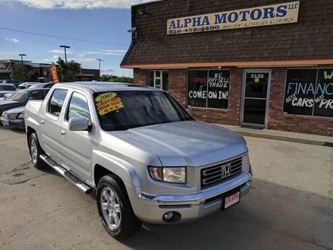 2007 Honda Ridgeline for sale at Alpha Motors in Kansas City MO