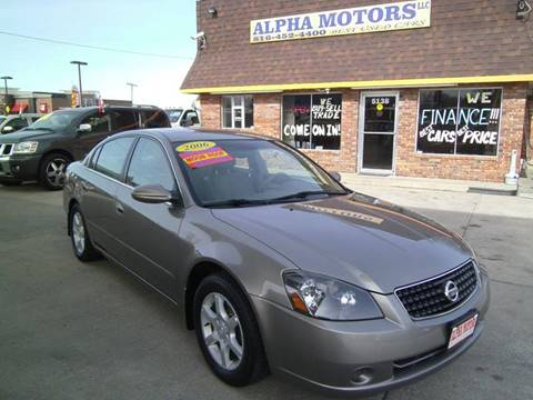2006 Nissan Altima for sale at Alpha Motors in Kansas City MO
